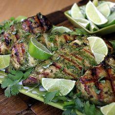 Thai Herb Grilled Chicken Breasts-  A coconut milk & herb marinade makes tender, moist chicken