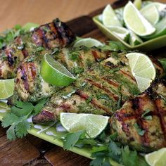Thai Herb Grilled Chicken Breasts- A coconut milk & herb marinade makes tender, moist chicken
