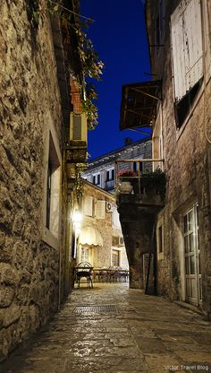 in Budva Old Town or Mild Winter on the Adriatic Shore - Montenegro Budva, Norway Winter, Northern Lights Norway, Norway Travel, Sky Aesthetic, Fishing Villages, Old Town, Travel Pictures, Night Life