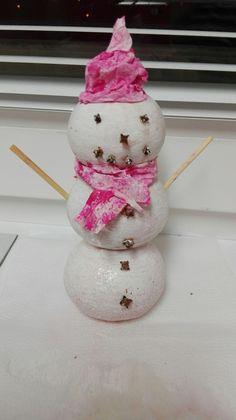 Mandarínkový snehuliak