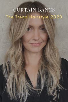 Curtain Bangs: The Trend Hairstyle 2020 Long Fringe Hairstyles, Choppy Bob Hairstyles, Long Layered Haircuts, Baddie Hairstyles, Hairstyles With Bangs, Cool Hairstyles, Straight Bangs, Long Bangs, Wispy Bangs