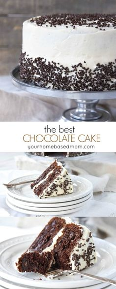 The BEST Chocolate Cake Best Chocolate Cake Recipe! With just a few secret ingredients, a boxed cake mix becomes the best chocolate cake recipe you have ever tasted. Box Cake Recipes, Cupcake Recipes, Cupcake Cakes, Dessert Recipes, Brownie Recipes, Cookie Recipes, Amazing Chocolate Cake Recipe, Chocolate Cake Mixes, Chocolate Recipes