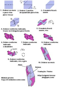 Diagrama do origami Tornillo.