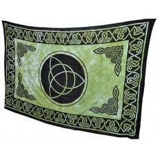Celtic Triquetra Tapestry Throw, Green