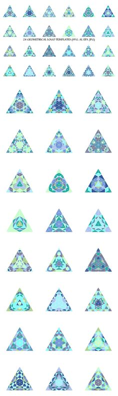 24 Mosaic Triangle Logo Templates #logos #logotemplates #polygon #geometric #geometrical #scientific #GeometricalLogo #AbstractLogoTemplates #logo #abstract #logotemplate #AbstractLogos #sticker #mosaic #LogoDesign #LogoDesignTemplate #logo
