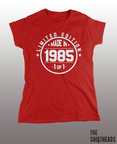 Made in 1985 Shirt limited edition tshirt mens by TheShirtheads