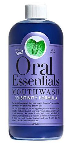 Oral Essentials Sensitive Teeth Mouthwash 16 oz Certified NonToxic