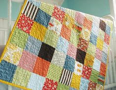 Patchwork Squares by BlueElephantStitches, via Flickr