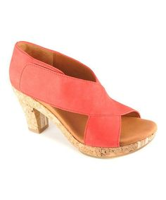 Look what I found on #zulily! Red Leather Sun Dae Open-Toe Pump by Gentle Souls #zulilyfinds
