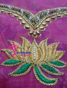 Lotus work aari embroidery...