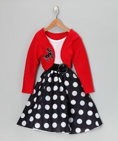 Look at this Red Polka Dot Rocker Dress - Girls on #zulily today!