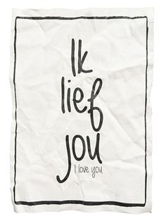 "Canvas print ""Ik lief jou"""