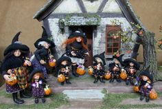 Original OOAK 1:12th Halloween witch by Silke Janas-Schloesser no.F