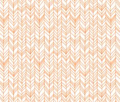 featherland white with orange fabric by leanne on Spoonflower - custom fabric