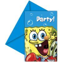 Invite Sponge Bob Party 6Pk - http://moviemasks.co.uk/product-category/sample-product/invite-sponge-bob-party-6pk