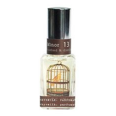 Song In D Minor  No. 13  Parfum    A decidedly different collection of brilliantly paired fragrance notes housed in an alluring glass bottle decorated with an image of a delicate bird in cage.    A complex melody: White Orchid, Orange Flower, Gardenia & Amber  Price  $28.00