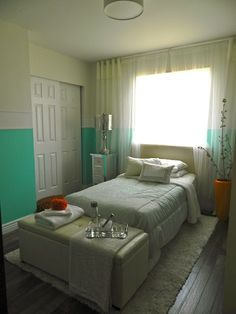 nice guest room.. some good ideas for a small room #bedroom #ideas for #small #rooms