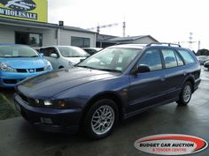 Mitsubishi Legnum  For Sale  $3,500.00    Year:   1997  Manufacturer:   Mitsubishi  Model:   Legnum   Engine:   1830  Fuel Type:   Petrol  Transmission:   Automatic  Mileage:   168842 km  Exterior Colour:   Blue  Doors:   5  Body Style:   S/W  Stock #:   8693    Features:  ABS, Alloy Wheels, Rear Spoiler, Roof Rack, Central Locking, Power Windows, Power Steering