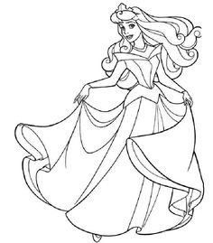 Sleeping Beauty Coloring Page Free For Girls