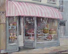 PRINT ON PAPER - The French Cake Shop - FREE POSTAGE WORLD WIDE