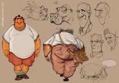 Dattaraj kamat animation art: today's stuff from the sketchb Character Sketches, Character Design References, Character Drawing, Character Illustration, Character Concept, Art Sketches, Fat Character, Illustration Pictures, Cartoon Drawings