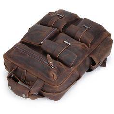 Cool Leather Mens Backpack Large Vintage Large Travel Backpack for Men
