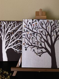 Button Tree paintings!