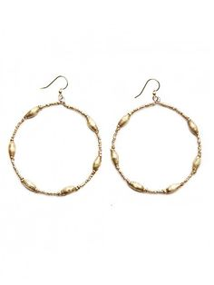 Keranga Hoop Earrings - Gold or Silver