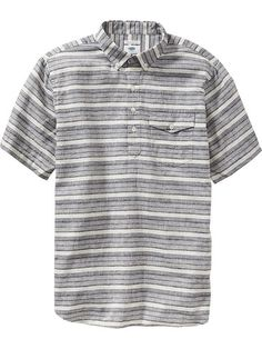 Men's Linen-Blend Pull-Overs