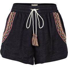 Fat Face Boscastle Swim Shorts ($36) ❤ liked on Polyvore featuring swimwear, swim trunks, beach wear, swim suits, beach swimwear and bathing suit swimwear