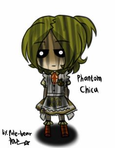 Pole-Bear: Phantom Chica Picture >>>>> I love Pole-Bear's art! Omg, Chica in this pic looks so done lol XD