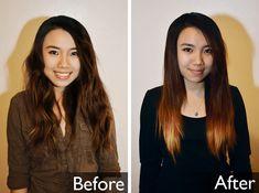Ombre Hair Gradient Dip Dye DIY Tutorial