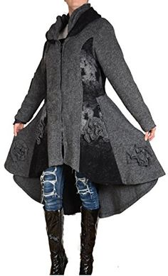 DAMEN WOLLE WINTER ÜBERGANG LANG LAGENLOOK MANTEL COAT 44 46 48 50 L XL XXL 3XL