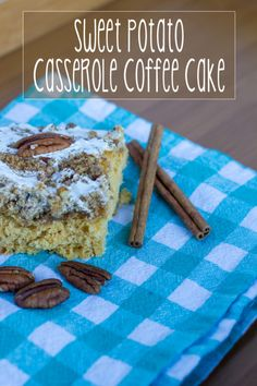 Sweet Potato Casserole Coffee Cake #ad Blended Coffee Recipes, Coffee Drink Recipes, Cold Brew Coffee Recipe, Keto Coffee Recipe, Sweet Potato Casserole, Sweet Potato Recipes, Coffee Dessert, Coffee Cake, Dessert Cake Recipes