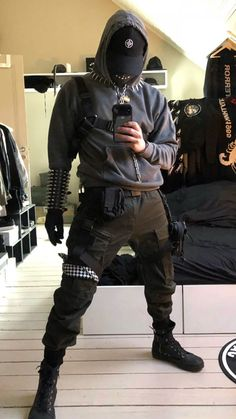 In Fashion Mens Clothes Info: 3390647027 All Black Fashion, Asian Fashion, Boy Fashion, Fashion Outfits, Mens Fashion, Grunge Outfits, Boy Outfits, Urban Samurai, Bad Boy Style