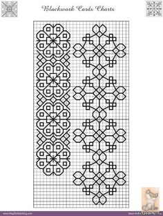 Blackwork border ideas