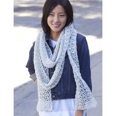 Snow Puff Scarf - Crochet Patterns - Patterns | Yarnspirations