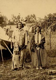 """""""Touch Cloud and Woman (Sioux)""""   Photograph by F. A. Rinehart, 1898"""
