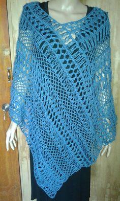 Crochet Jacket, Crochet Poncho, Irish Crochet, Free Crochet, Crochet Stitches Patterns, Thread Crochet, Crochet Crafts, Crochet Projects, Hairpin Lace Crochet