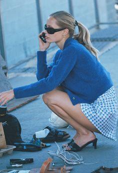 Looks Street Style, Looks Style, My Style, Estilo Ivy, Estilo Preppy, Silk Mini Dress, Cropped Cardigan, Knit Cardigan, Facon