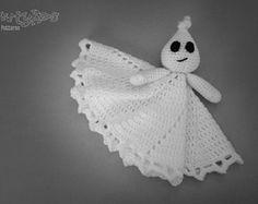 Ghost Lovey CROCHET PATTERN instant download - blankey, blankie, security blanket
