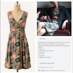 Ajisia dress Beautiful dress by Sariah. Side zip. Anthropologie Dresses
