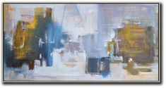 Panoramic Abstract Landscape Painting LX32D #Abstract #Abstract-Landscape #Artists_Lin-Xiang
