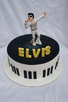 Elvis Presley Personalised Icing Cake Topper Birthday party decoration The King