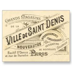 Possibly use old French type design.  Vintage French Publicity Postcards