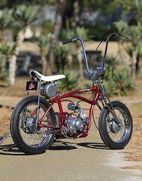 Schwinn Stingray bike with engine Custom Motorcycles, Custom Bikes, Cars And Motorcycles, Cool Bicycles, Cool Bikes, Motorised Bike, Drift Trike, Push Bikes, Motorized Bicycle