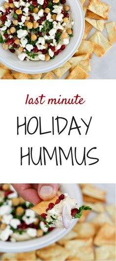 last minute holiday hummus
