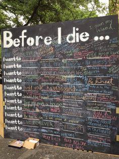 Avant de mourir.
