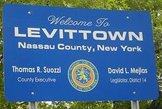 Levittown, New York (built 1947-1951) was the first truly mass-produced and is widely regarded as the archetype of postwar suburbs across the USA.