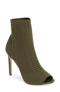 Free shipping and returns on Steve Madden Candid Knit Bootie (Women) at Nordstrom.com. Stretchy, textured knit fabric with breezy open stitching distinguishes the look and feel of a peep-toe bootie lofted by a slender heel.